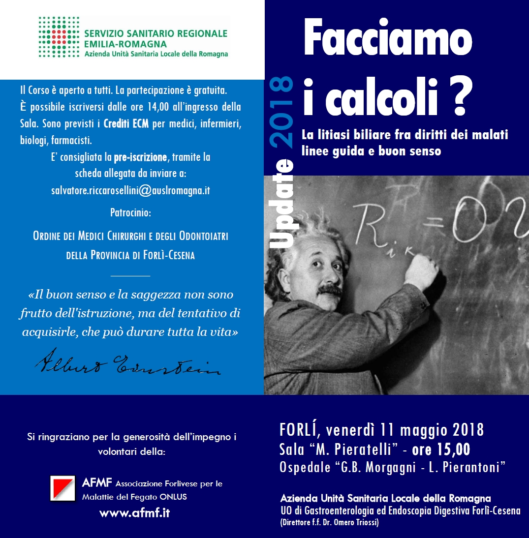 Corso sulla litiasi biliare a Forlì, 11 maggio 2018